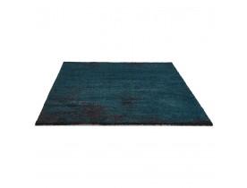 Salontapijt 'LOUIX' 160/230 cm pauwblauw met zwarte schakeringen