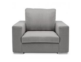 Fauteuil 1 zitplaats 'LUCA MINI' van lichtgrijze stof