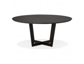 Ronde eettafel 'LULU' van zwart metaal en hout - Ø120 cm
