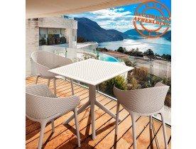 Geperforeerde design terrasstoel 'LUCKY' wit