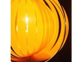 Oranje design lamp 'LUNA' met flexibele plastic lamellen