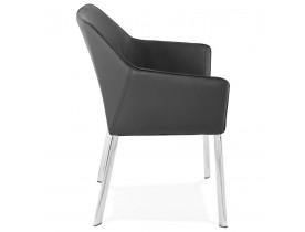 Zwarte moderne stoel met armsteunen 'MANATAN'
