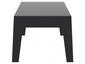 Lage, zwarte tafel 'MARTO' uit kunststof