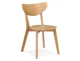 Moderne stoel 'MONA' van natuurlijk afgewerkt hout - bestel per 2 stuks