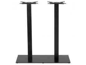 Zwart geverfde metalen tafelpoot 'NERO DOUBLE' 100 cm