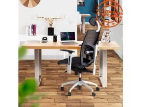 Ergonomische bureaustoel 'OSLO' uit zwarte gestructureerde stof