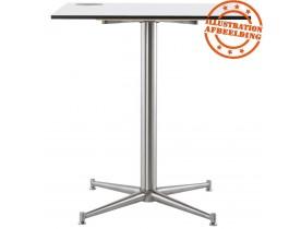 Wit, vierkant tafelbad 'PLANO' 68x68cm uit gecompresseerd hars