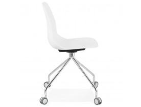 Moderne bureaustoel 'RALLY' wit op wieltjes