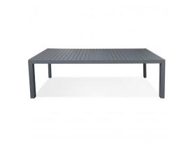 Uitschuifbare tuintafel 'SAMUI' van mat donkergrijs aluminium - 180(240)x100 cm
