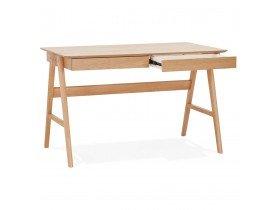 Rechte design bureau 'SIROKO' van natuurlijk hout - 120x70 cm