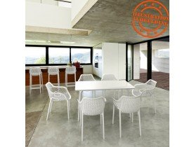 Witte kunststof 'SISTER' tuin- / terrasstoel