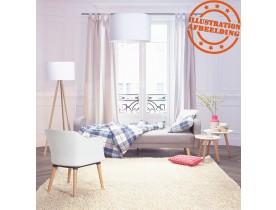 Rechte slaapbank 'SLEEPY' van grijze stof in Scandinavische stijl