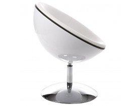Bolvormige witte 360° draaibare design zetel 'SPHERA'