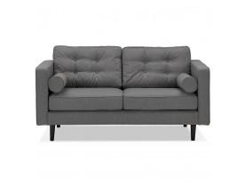 Donkergrijze stoffen rechte design zetel 'STAGU' - Zetel met 2 plaatsen