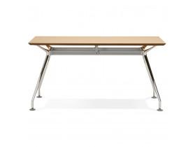 Recht design bureau 'STATION' met een naturel, houten blad - 150x70 cm