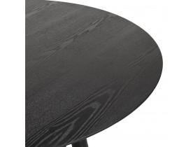 Ronde eettafel 'SWEDY' van zwart hout - Ø 120 cm