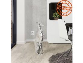 Decoratief standbeeld 'TAZI' zittende hond in aluminium