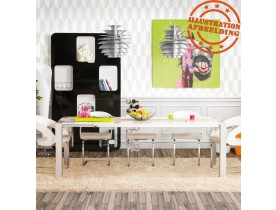 Witte, uitschuifbare design tafel 'TITAN' - 190(270)x95 cm