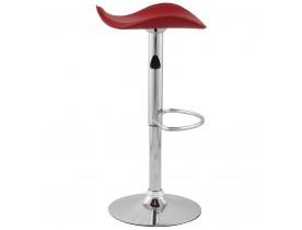 Bar-/keukenkruk 'WAVE' uit rood imitatieleder