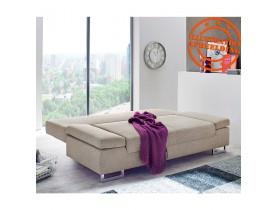 Converteerbare slaapbank 'WAZA' in beige chenille stof