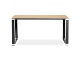 Klein recht designbureau 'XLINE' in hout met natuurlijke afwerking en zwart metaal - 140x70 cm