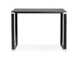 Hoge tafel/bureau van zwart hout 'XLINE HIGH TABLE' - 140x70 cm