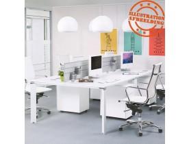 Witte vergadertafel / bench-bureau 'XLINE SQUARE' - 160x160 cm