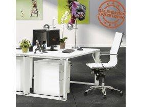Design recht directiebureau 'XLINE' van wit hout