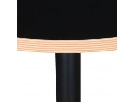 Zwart rond bistrotafeltje 'YOGI' - Ø 60 cm