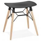 Design lage kruk 'ALADIN' zwart Scandinavische stijl