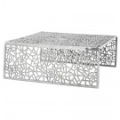 Lage tafel 'ARANEA' in gepolijst aluminium