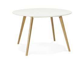 Ronde keukentafel 'AMY' wit Scandinavische stijl - Ø 120 cm