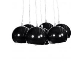 Design hanglamp 'BILBO' met 7 zwarte bollen