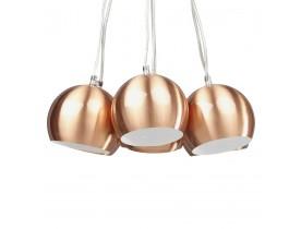 Design hanglamp 'BILBO' met 7 koperkleurige bollen