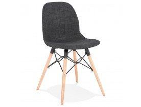 Scandinavische stoel 'BIZON' van donkergrijze stof