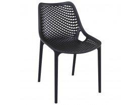 Moderne, zwarte stoel 'BLOW' uit kunststof