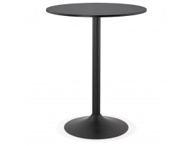 Staantafel / hoge tafel 'BRASILIA' zwart - Ø 90 cm