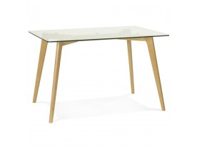 Kleine tafel / bureau recht 'BUGY' van glas - 120x80 cm