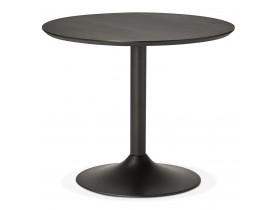 Kleine ronde bureautafel / eettafel 'CHEF' zwart - Ø 90 cm