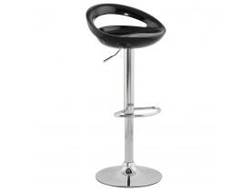 Design barkruk 'COMET' met zwarte, in de hoogte regelbare zitschaal en rugleuning