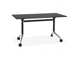 Opvouwbaar bureau 'FLEXO' zwart op wielen - 140x70 cm