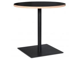 Zwarte ronde tafel 'FUSION ROUND' - Ø 80 cm