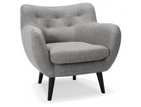 Fauteuil voor de woonkamer 1 zitplaats 'GASPARD MINI' in lichtgrijze stof