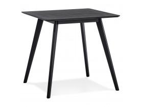 Kleine houten eettafel 'GENIUS' met zwarte afwerking - 80x80 cm