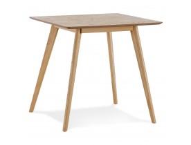 Kleine houten eettafel 'GENIUS' met natuurkleurige afwerking - 80x80 cm