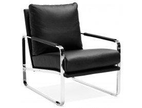 Zwarte, comfortabele loungezetel GEORGE - Alterego
