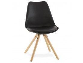 Zwarte, Scandinavische stoel GOUJA - Alterego