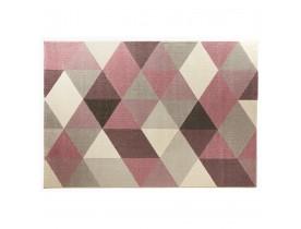 Design tapijt GRAFIK 160/230 cm met roze grafische motieven - Alterego