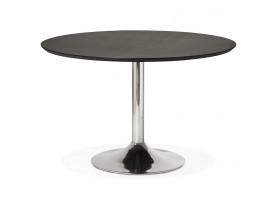 Ronde eettafel/bureautafel 'KITCHEN' met zwarte essenhouten afwerking - Ø 120 cm