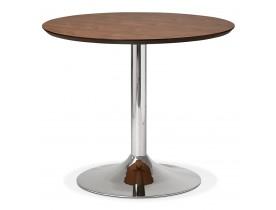 Kleine ronde bureautafel / eettafel 'KITCHEN' met notenhouten afwerking - Ø 90 cm